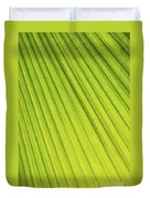 Palm Tree Leaf Abstract Duvet Cover