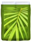 Palm Tree Leaf Duvet Cover by Elena Elisseeva