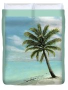 Palm Tree Study Duvet Cover by Cecilia Brendel