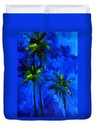 Palm Trees Abstract Duvet Cover by Patricia Awapara