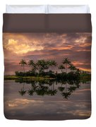 Palm Trees At Sunset Duvet Cover