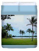 Palm Trees In Oahu Duvet Cover