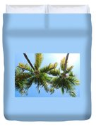 Palm Trees In Puerto Rico Duvet Cover