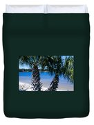 Palm Trees Of Gulf Breeze Duvet Cover
