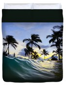 Palm Wave Duvet Cover