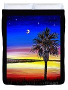 Palmetto Sunset Moon And Stars Duvet Cover