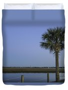 Palmetto View Of Lighthouse Duvet Cover