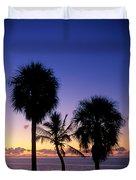 Palms At Sunrise Duvet Cover
