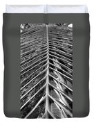 Palms E The Other Way In Black And White Duvet Cover