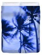 Palms In Storm Wind-bora Bora Tahiti Duvet Cover