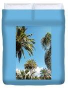 Palms In The Sky Duvet Cover
