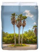 Palms Of Paradise Duvet Cover