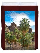 Palms Stand Tall In Andreas Canyon In Indian Canyons-ca Duvet Cover