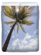 Palms Trees Along Luquillo Beach In Puerto Rico Duvet Cover