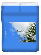 Palms Waving Hello Duvet Cover
