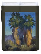 Palms With Skirts Duvet Cover