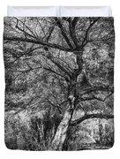 Palo Verde In Black And White Duvet Cover