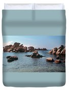 Palombaggia Beach And Rocks, Corsica Duvet Cover