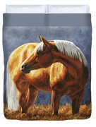 Palomino Horse - Gold Horse Meadow Duvet Cover