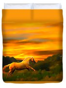 Palomino Pal At Sundown Duvet Cover