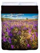 Palouse Falls Wildflowers Duvet Cover