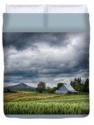 Palouse Farm And Steptoe Butte Duvet Cover