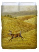 Palouse Farm Whitetail Deer Duvet Cover by Crista Forest