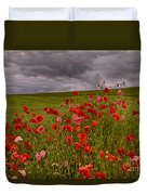 Palouse Poppies Duvet Cover