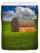 Palouse Yellow Barn Duvet Cover
