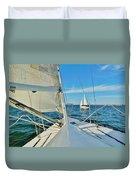 Pamlico Sound Sailing 52 4/14 Duvet Cover