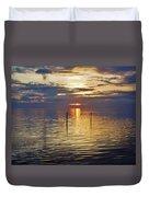 Pamlico Sound Sunset 3 12/5 Duvet Cover