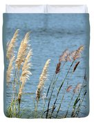 Pampas On The Lake Duvet Cover