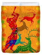 Pan Leads The Dance Duvet Cover