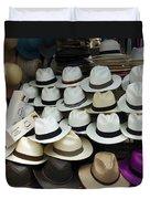 Panama Hats In Ecuador Duvet Cover