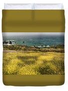 Panarama Spring On Califronia Coast By Denise Dube Duvet Cover