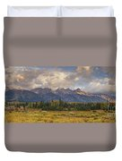 Panaroma Clearing Storm On A Fall Morning In Grand Tetons National Park Duvet Cover