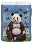 Panda Buddha Duvet Cover