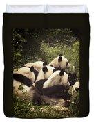 Pandamonium Duvet Cover by Joan Carroll