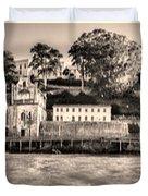 Panorama Alcatraz Shaky Sepia Duvet Cover