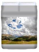 Panorama Atop Independence Pass Duvet Cover