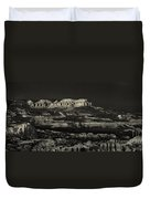 Panorama Bryce Canyon Storm In Black And White Duvet Cover