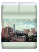 Panorama-dt-toronto Looking East Duvet Cover