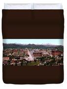 Panorama Of Denver Duvet Cover