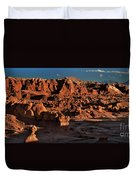 Panorama Of Hoodoos At Sunset Goblin Valley State Park Utah Duvet Cover