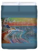 Panorama Of Pch At Big Sur Duvet Cover