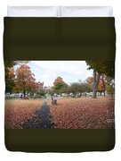 Panorama Of Taylor Park St Albans Vermont Duvet Cover
