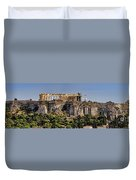 Panorama Of The Acropolis In Athens Duvet Cover
