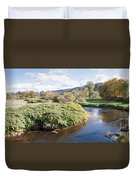 Panorama Of The Little River At Stowe Vermont Duvet Cover