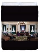 Panorama Of The Vermont State House Montpelier Vermont Duvet Cover