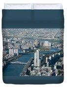Panorama Of Tokyo Duvet Cover